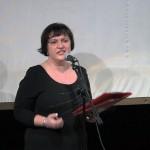 Анжела Львова выступает на творческом вечере Ирины Шухаевой 30 мая 2013 года