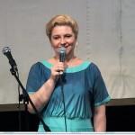 Ирина Шухаева выступает на своем творческом вечере. 30 мая 2013 года.