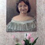 Портрет Ирины Шухаевой. Работа Инны Мень