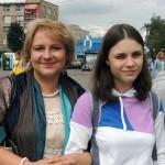 Ирина Шухаева с дочерью. Прогулки по Москве, лето 2014
